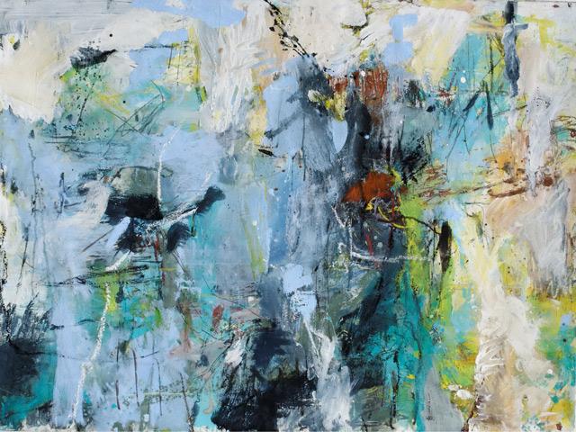Ohne Titel (2012) Eitempera auf Papier 120 cm x 90 cm